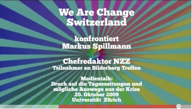 We are change konfrontiert NZZ Chefredakteur Markus Spillmann